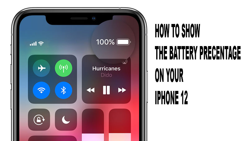 show battery percentage on iphone 12