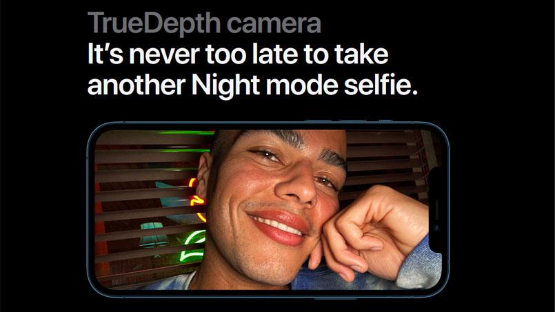 iphone 12 night selfie