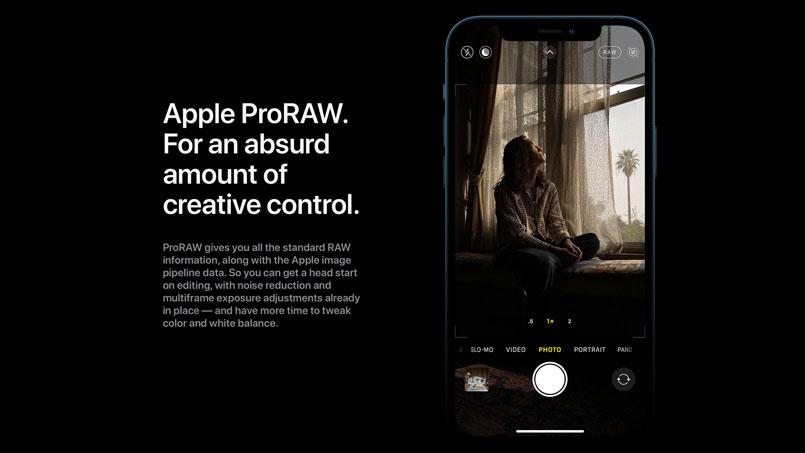 iphone 12 proraw