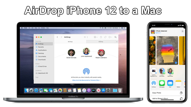 airdrop from iPhone 12 to Mac